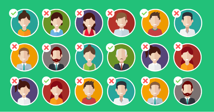 image of people who are chosen to be ideal clients and not