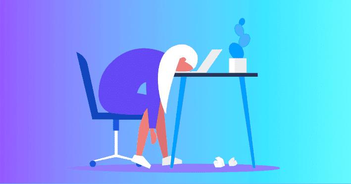 healthcare practitioner sleeping on desk, sign of burnout